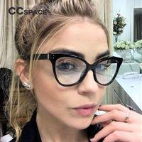 efeca326ae9 CCSPACE 6 Colors Ladies Cateye Glasses Frames Men Women Rivet Brand  Designer Optical EyeGlasses Fashion Computer