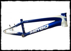 2015 Meybo limited edition blue and white Holeshot race frame. The Netherlands based company will be hitting the USA BMX racing scene heavy in 2015