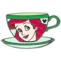 (N) Pin 70643 Hidden Mickey Mystery Pouch - Princess Tea Cups (Ariel) 2009 Hidden Mickey Series- November 5 of 6