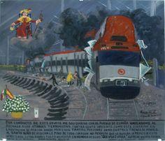Этим ретабло я выражаю соболезнования испанскому народу и осуждаю теракты против невинных людей на вокзале Аточа и в мадридских поездах, когда погибло так много человек. От всего сердца прошу у Святого Младенца с Аточи, чтобы это никогда не повторилось. Ставлю свечу и подношу ему эти цветы в память о погибших.    Альфредо Вильчис Роке.  Мехико. Пятница, 12 марта 2004.