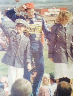Driver intros at Charlotte Motor Speedway in October of 1987 featured not only Dale Earnhardt but Kelley Earnhardt & Dale Jr.