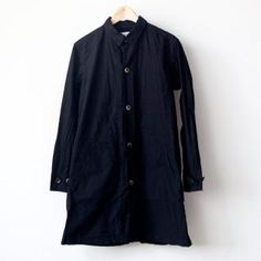 【Men's&Ladies'】Manual Alphabet / Typewriter shirt coat : black