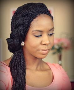 Best box braids updo hairstyles for women. Gorgeous box braids updo hairstyles for black women. Rope Twist Braids, Crochet Senegalese Twist, Senegalese Twist Hairstyles, Micro Braids, Micro Twists, Styles For Senegalese Twists, Black Braided Updo, Twisted Updo, Half Updo