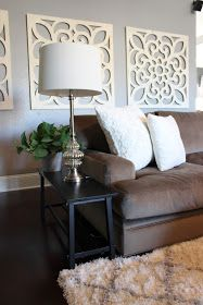Sofa tables to use in narrow space! My 27 Cents Worth: Eclectic Side Tables for Narrow Walkways