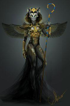 Egyptian goddess, Bastet.