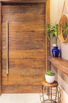 Metabes - Home, Craft and Diy Modern Wooden Doors, Rustic Doors, Warm Industrial, Front Door Design, Entrance Hall, Dream Decor, Decoration, My House, Sweet Home