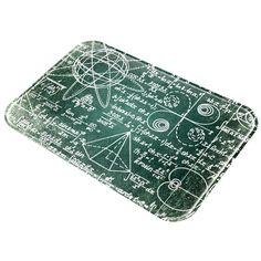 Math Geek Formulas Distressed Grunge All Over Glass Cutting Board