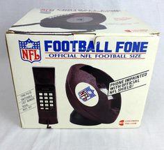 NOS Vintage NFL Football Fone Telephone Pushbutton Phone Columbia Tel-Com UNUSED #ColumbiaTelcom