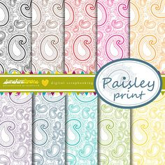 Paisley Prints Digital Scrapbooking Papers