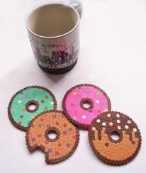 Inspiration: donuts Hama/perler bead coasters by Hamacreative.