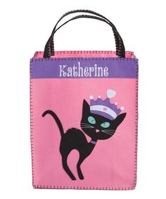 974f3d3b1f2 Another great find on #zulily! Groovy Cat Personalized Halloween Bag…  Halloween Trick Or