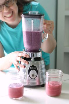 Colorful Allergy-Friendly Wild Blueberry Banana Hemp Smoothie Recipe