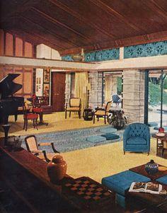 surprising 1960s sitcom living room | Midcentury Modern Retro Vintage 50s 60s Interior Design ...