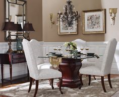 Hamilton Table & Langford Dining Chairs | Bombay Canada
