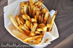 Yes, this is happening! Real Healthy Fries that taste AMAZING and are made with BAKED PARSNIPS! I have always been very open and honest about my love for French fries. Regular, curly, seasoned, sweet potato…I don't discriminate! However, regular fries are really so bad for us. All that unhealthy fat and all of those calories...