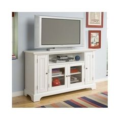 TV Stand Entertainment Center Media Storage Furniture Home Theater Wood Cabinet #CottageCountry