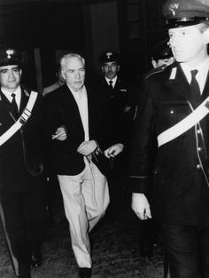 Handcuffed Joe Adonis arrives at a Milan, Italy, court, June 3, 1971. The court was deciding whether or not Adonis would be deported as a mafia suspect.