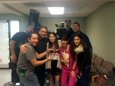 "Cast and crew behind the scenes of ""Allison's Choice"""