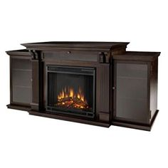 Amazon.com: Real Flame Hawthorne Electric Fireplace TV Stand in ...