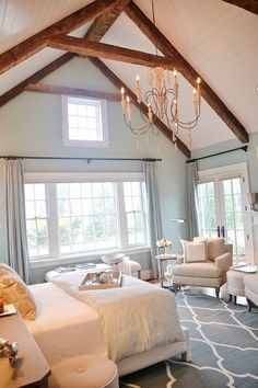 Sherwin Williams Watery in glorious master bedroom #HGTV #HGTVDreamHome