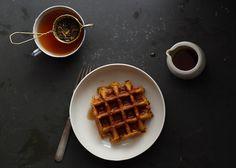 pumpkin oat waffles (gluten free, vegan) via amy chaplin