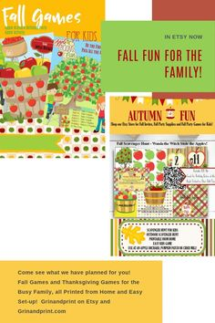 Aug 24, 2020 - Looking for fall activities for kids or  first-day fall activities? There's nothing like a little fall fun and some fall time activities for a party or classroom to get in the spirit of autumn and all it has to offer. Why not start with our September or October activities and print them from home too!  First Day of Fall Activities is also great for some Thanksgiving fun too! Play now and later for both Fall celebrations! Enjoy the season. #fallfun #fallfamilyfun #fall… Fall Birthday Parties, Party Favors For Kids Birthday, Birthday Invitations Kids, Halloween Invitations, Printable Invitations, Invites, Christmas Activities For Kids, Time Activities, Halloween Scavenger Hunt
