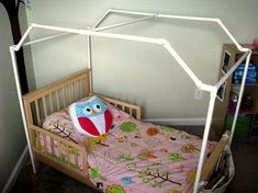 10 Elegant Cool Tips: Canopy Nook Ikea Curtains modern canopy bedroom.Canopy Tent Romantic canopy tent over bed.Carseat Canopy With Bow. Toddler Canopy Bed, Diy Toddler Bed, Kids Canopy, Cool Ideas, Pvc Canopy, Canopy Beds, Beach Canopy, Backyard Canopy, Bedrooms