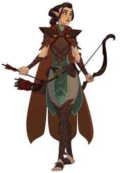 [Art] idhara, the half-elf ranger : dnd Character Design Cartoon, Fantasy Character Design, Character Creation, Character Design References, Character Design Inspiration, Character Concept, Character Art, Character Ideas, Dungeons And Dragons Characters