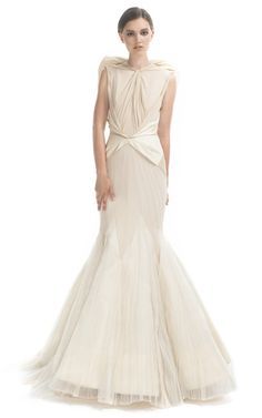 Angel Evening Gown by  for Preorder on Moda Operandi