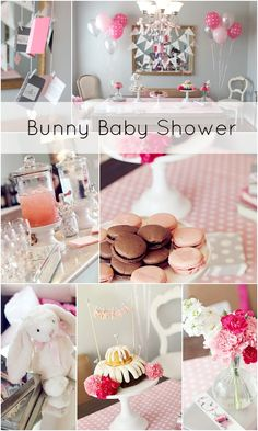 Pretty Pink and Silver Bunny Shower thrown by Ashley Dernick of Recollection Vintage Rentals