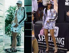Rihanna In Bernhard Willhelm – Brooklyn Nets vs. Miami Heat