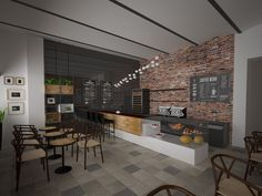 cafe art interior