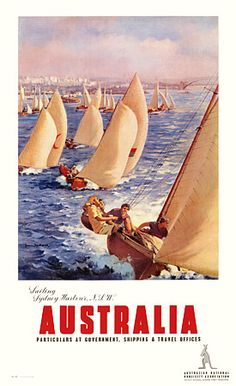 Sailing Sydney Harbour by James Northfeld c.1930s…