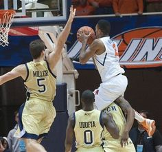 """Just when it appeared No. 22 Illinois had gone quiet, reserve guard Joseph Bertrand made some noise.  """"Until you get to know him, Joe sometimes comes off like a quiet guy, but he's got some big-time energy,"""" Illinois coach John Groce said. """"I very rarely will watch practice film or game film and say, 'Bertrand isn't playing hard.' """"  """"He brings a lot of energy off the bench,"""" Georgia Tech coach Brian Gregory said. """"He's a great athlete. He's just streaky enough to be dangerous."""""""