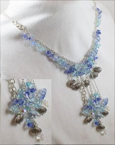 Beaded Pendant Necklace Antique by LaurieRobertsJewelry on Etsy, $51.99