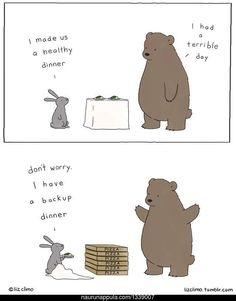 When she's got time off from The Simpsons, Liz Climo turns out the most adorable comic drawings ever. Take a look at these comics. Funny Shit, Funny Memes, Hilarious, Simpsons Artist, The Simpsons, Liz Climo Comics, Funny Animals, Cute Animals, Back Up