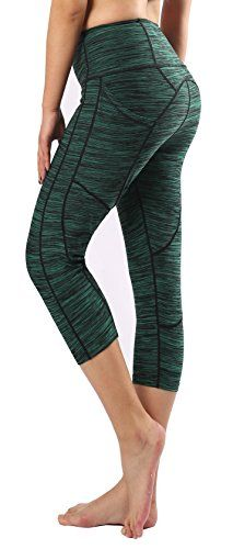 8df0818b93b2e Munvot Womens Capri Workout Pants Yoga Capri Leggings with Side Pocket L  For Sale https: