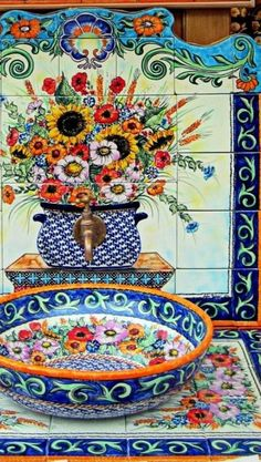 Pottery & tiles from Boleslawiec, Poland, Talavera Pottery, Ceramic Pottery, Polish Folk Art, Rustic Bathroom Decor, Polish Pottery, Jolie Photo, Mexican Style, Bohemian Decor, Boho
