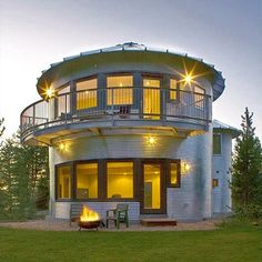 old grain silos for sale | have to say that my favorite is a home made from two grain silos ...