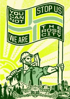 Portland Timbers: A constructivist Illustration for the Timbers Army & the People of the Rose City.