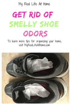 Have you ever removed your shoes and immediately wondered what that smell was? Then you realized it was your shoes? Quick, easy ways to get rid of stinky shoes. How To Wash Shoes, Cat Pee Smell, Stinky Shoes, How To Get Rid, Cleaning Tips, Cleaning Solutions, Cringe, How To Deodorize Shoes, Organization