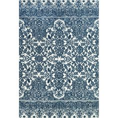 Anissa rug: Combining an intricate fretwork-inspired motif with a rich indigo and white palette: 208.95