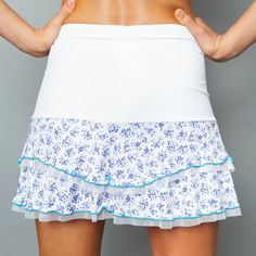 A-line Skort by Denise Cronwall, Denise Cronwall Activewear Lavender Fields Collection, #activewear, #tennis, #fitness, #workout, #apparel, #style, #fashion, #unique, #boutique, #training, #pants, #bra, #top, #designer, #skort, #skirt