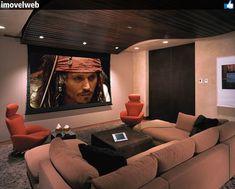 Sala para filmes.