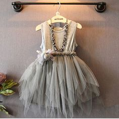 Adorable romantic girls dress with high low tutu, get it at dashingbaby.com