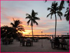 Morada Bay Beach Cafe in Islamorada - gorgeous views of the sunset while dining