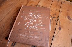 Kraft Wedding Guest Book - Rustic Wedding Guestbook - Custom Guest Book - Personalized Guestbook - Blank - Rustic Keepsake • 8 x 10 by PaperPeachShop on Etsy https://www.etsy.com/listing/249979007/kraft-wedding-guest-book-rustic-wedding