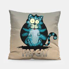 'Fat Cat' Tote Bag by mangulica Cat Rug, Crazy Home, Thing 1, Cat Pillow, Cat Wall, Fat Cats, Unique Image, Cool Items, Medium Bags