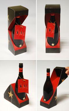 Pack para cerveza premium (también serviria para botellas de vino y/o champagne, que permite una presentación acorde con la calidad del producto,y además una buena visibilidad de marca.  Nº PROJ
