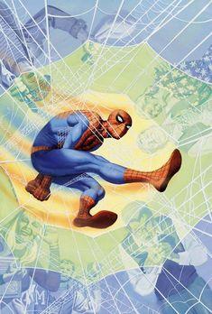 Spider-Man by Steve Rude Comic Book Artists, Comic Book Characters, Marvel Characters, Comic Character, Comic Books Art, Robert Mcginnis, Marvel Comics Art, Marvel Heroes, Stan Lee
